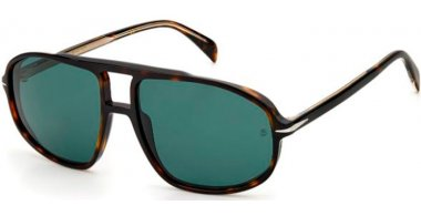 Sunglasses - David Beckam Eyewear - DB 1000/S - 086 (QT) HAVANA // GREEN