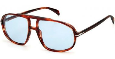 Sunglasses - David Beckam Eyewear - DB 1000/S - 0UC (QZ) RED HAVANA // AZURE PHOTOCROMIC