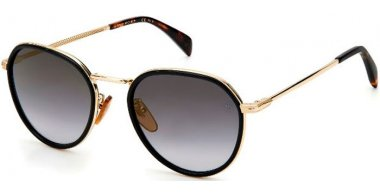 Sunglasses - David Beckam Eyewear - DB 1010/G/S - 807 (FQ) BLACK // GREY GRADIENT MIRROR GOLD