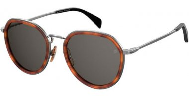 Sunglasses - David Beckam Eyewear - DB 1010/G/S - 0UC (IR) RED HAVANA // GREY