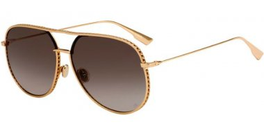 Sunglasses - Dior - DIORBYDIOR - 000 (86) ROSE GOLD // BLACK BROWN GREEN GRADIENT ANTIREFLECTION