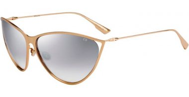 Sunglasses - Dior - DIORNEWMOTARD - 000 (IC) ROSE GOLD // GREY GRADIENT MIRROR SILVER