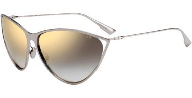 Sunglasses - Dior - DIORNEWMOTARD - 010 (FQ) PALLADIUM // GREY GRADIENT MIRROR GOLD