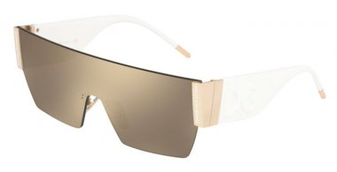 Lunettes de soleil - Dolce & Gabbana - DG2233 - 488/5A PALE GOLD // LIGHT BROWN GOLD MIRROR