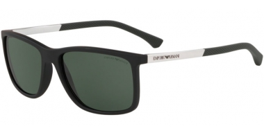 Sunglasses - Emporio Armani - EA4058 - 575671 MATTE BLACK // GREEN
