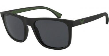 Sunglasses - Emporio Armani - EA4129 - 504287 MATTE BLACK // GREY