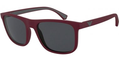 Sunglasses - Emporio Armani - EA4129 - 575187 MATTE BORDEAUX // GREY