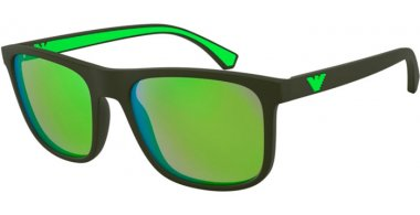 Sunglasses - Emporio Armani - EA4129 - 57538N MATTE MILITARY GREEN // LIGHT GREEN MIRROR GREEN