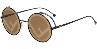Sunglasses - Fendi - FF 0343/S - 807 (EB) BLACK // BROWN GOLD DECORATED
