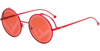 Sunglasses - Fendi - FF 0343/S - C9A (0L) RED // RED DECORATED