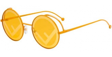 Sunglasses - Fendi - FF 0343/S - FMP (0M) OCHRE // ORANGE DECORATED