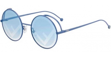 Sunglasses - Fendi - FF 0343/S - MVU (7R) AZURE // BLUE SILVER DECORATED