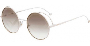 Sunglasses - Fendi - FF 0343/S - VK6 (EB) WHITE // BROWN  DECORATED