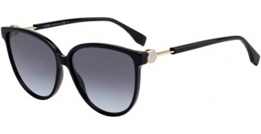 Gafas de Sol - Fendi - FF 0345/S - 807 (GB) BLACK // GREY GRADIENT AZURE