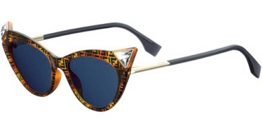 Sunglasses - Fendi - FF 0356/S - 086 (KU) DARK HAVANA // BLUE GREY