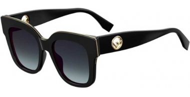 Sunglasses - Fendi - FF 0359/G/S - 807 (9O) BLACK // DARK GREY GRADIENT