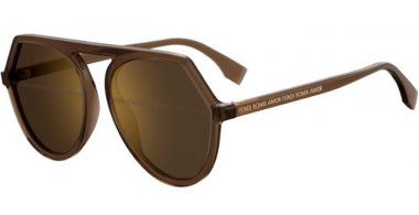 Sunglasses - Fendi - FF 0375/G/S - 09Q (7Y) BROWN // GOLD DECORED