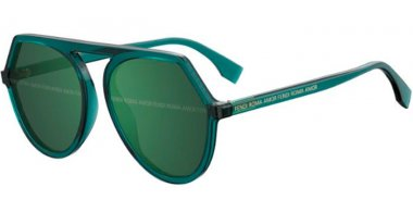 Sunglasses - Fendi - FF 0375/G/S - 1ED (XR) GREEN // GREEN DECORED