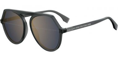 Sunglasses - Fendi - FF 0375/G/S - KB7 (8N) GREY // BLUE MIRROR