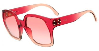 Sunglasses - Fendi - FF 0404/S - 8CQ (9R) CHERRY // PINK GRADIENT