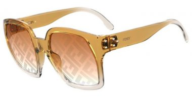 Sunglasses - Fendi - FF 0404/S - FMP (EB) OCHRE // GOLD DECORED