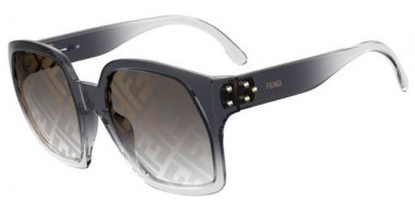 Sunglasses - Fendi - FF 0404/S - KB7 (7Y) GREY // GOLD DECORED