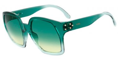 Sunglasses - Fendi - FF 0404/S - MR8 (9K) PETROLEUM // GREEN GRADIENT