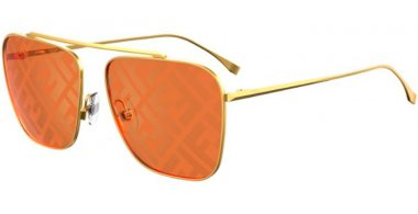 Sunglasses - Fendi - FF 0406/S - J5G (0M) GOLD // ORANGE DECORED