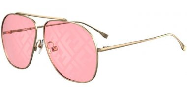 Sunglasses - Fendi - FF 0407/G/S - EYR (0L) GOLD PINK // RED DECORED