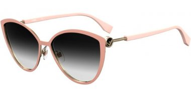 Sunglasses - Fendi - FF 0413/S - FIB (9O) NUDE GOLD // DARK GREY GRADIENT