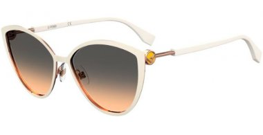 Sunglasses - Fendi - FF 0413/S - IJS (GA) IVORY GOLD // BROWN GRADIENT OCHRE