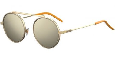 Sunglasses - Fendi - FF M0025/S - J5G (UE) GOLD // GREY IVORY MIRROR