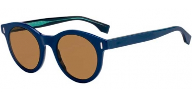 Sunglasses - Fendi - FF M0041/S - PJP (70) BLUE // BROWN