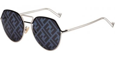 Sunglasses - Fendi - FF M0073/S - 010 (MD) PALLADIUM // GREY DECORED