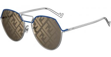Sunglasses - Fendi - FF M0073/S - 010 (UB) PALLADIUM // YELLOW DECORED