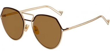 Sunglasses - Fendi - FF M0073/S - J5G (70) GOLD // BROWN