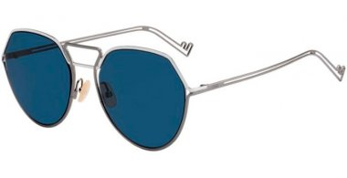 Sunglasses - Fendi - FF M0073/S - KJ1 (KU) DARK RUTHENIUM // BLUE GREY