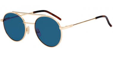 Gafas de Sol - Fendi - FF 0221/S - 000 (KU) ROSE GOLD // BLUE GREY