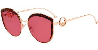 Sunglasses - Fendi - FF 0290/S - DDB (4S) GOLD COPPER // BURGUNDY