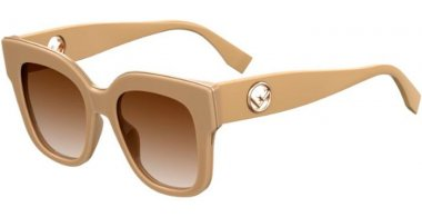 Sunglasses - Fendi - FF 0359/G/S - 10A (HA) BEIGE // BROWN GRADIENT