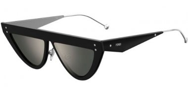 Sunglasses - Fendi - FF 0371/S - 807 (T4) BLACK // SILVER MIRROR