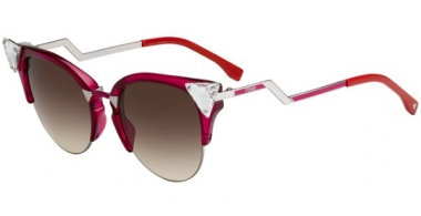 Sunglasses - Fendi - FF 0041/S - NHK (CC) CHERRY PALLADIUM CYCLAMEN // BROWN GRADIENT
