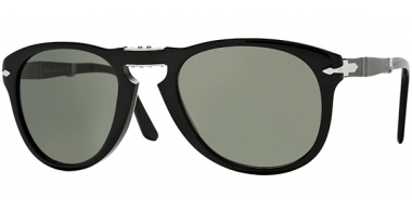 Sunglasses - Persol - PO0714 FOLDING - 95/31 BLACK // CRYSTAL GREEN