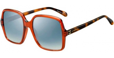 Sunglasses - Givenchy - GV 7123/G/S - 0UC (G5) RED HAVANA // AZURE GRADIENT MIRROR