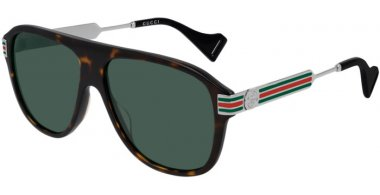 Sunglasses - Gucci - GG0587S - 002 HAVANA // GREEN