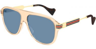 Sunglasses - Gucci - GG0587S - 004 LIGHT BROWN // GREY