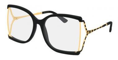 Sunglasses - Gucci - GG0592S - 001 BLACK // TRANSPARENT