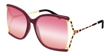 Sunglasses - Gucci - GG0592S - 004 BURGUNDY // PINK