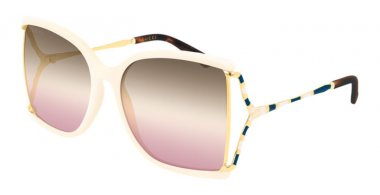 Sunglasses - Gucci - GG0592S - 005 IVORY // GREY GRADIENT