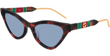 Sunglasses - Gucci - GG0597S - 002 DARK HAVANA // BLUE